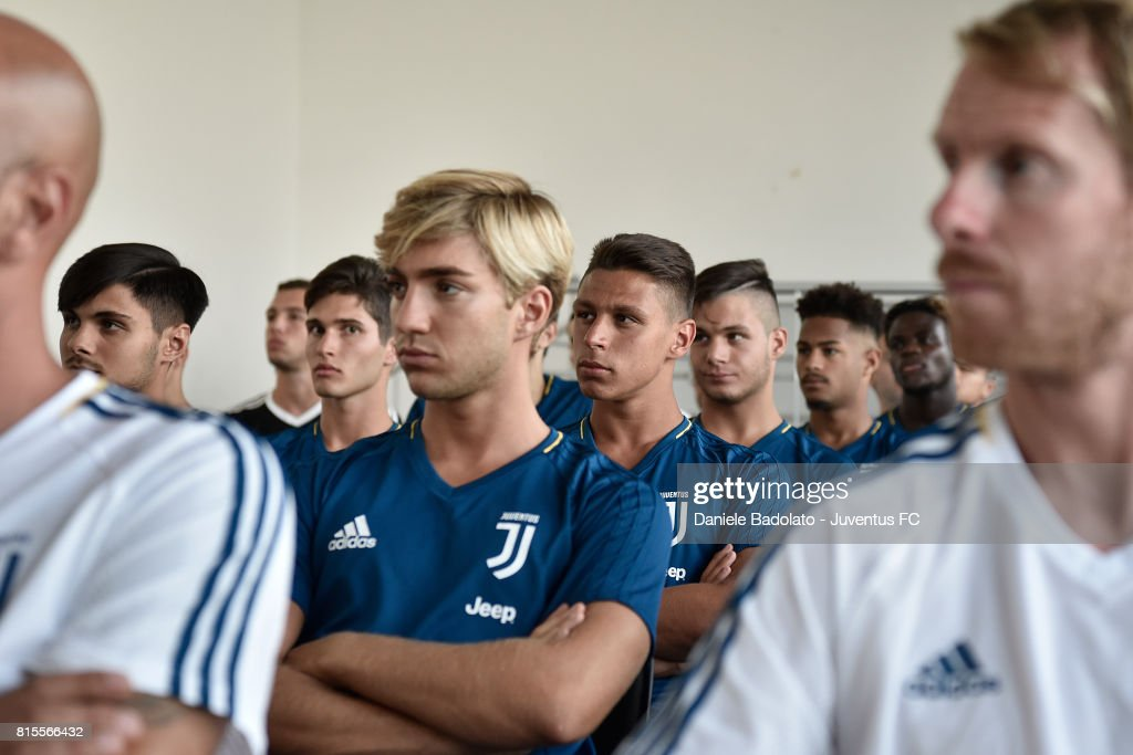 Biagio Morrone of Juventus Primavera during a training session on July 16, 2017 in Vinovo, Italy.