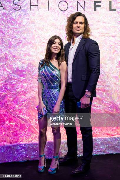 Bianca Atzei and Giulio Berruti attend the Huawei Fashion Flair event on May 09 2019 in Milan Italy