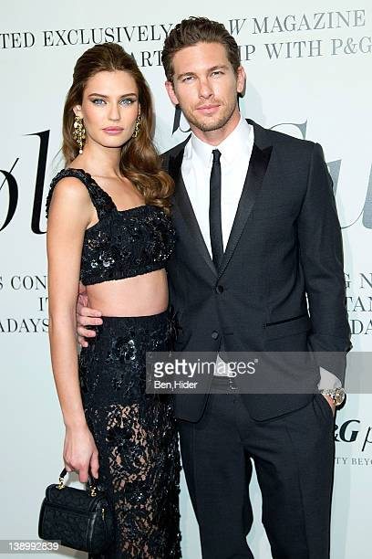 Bianca Balti and Adam Senn attends the 'The Ever Changing Face of Beauty' W Magazine opening reception at the Park Avenue Armory on February 14 2012...