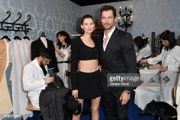 Bianca Balti and David Gandy attend the Dolce e Gabbana fashion show on February 23 2020 in Milan Italy