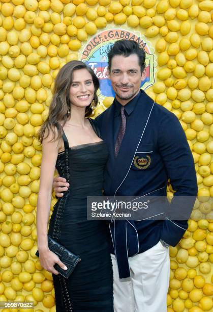 Bianca Balti and David Gandy attend the Dolce & Gabbana Light Blue Italian Zest Launch Event at the Nomad Hotel Los Angeles on May 17, 2018 in Los...