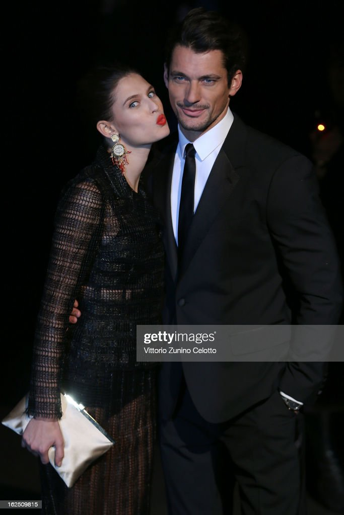Bianca Balti and David Gandy attends the Dolce & Gabbana fashion show as part of Milan Fashion Week Womenswear Fall/Winter 2013/14 on February 24, 2014 in Milan, Italy.
