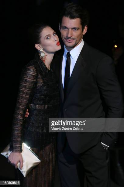 Bianca Balti and David Gandy attends the Dolce Gabbana fashion show as part of Milan Fashion Week Womenswear Fall/Winter 2013/14 on February 24 2014...