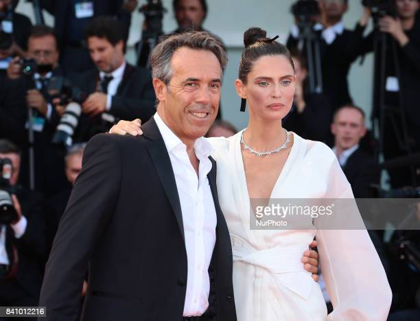 Bianca Balti and Stefano Beraldo walks the red carpet ahead of the 'Downsizing' screening and Opening Ceremony during the 74th Venice Film Festival...