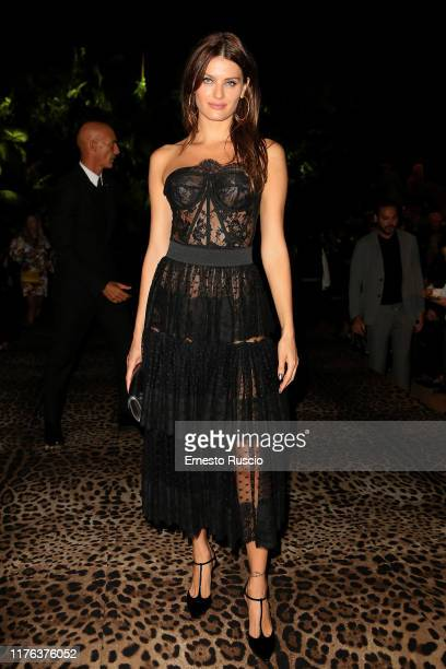 Bianca Balti attends the Dolce & Gabbana fashion show during the Milan Fashion Week Spring/Summer 2020 on September 22, 2019 in Milan, Italy.