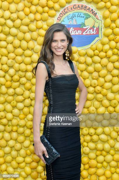 Bianca Balti attends the Dolce & Gabbana Light Blue Italian Zest Launch Event at the NoMad Hotel Los Angeles on May 17, 2018 in Los Angeles,...
