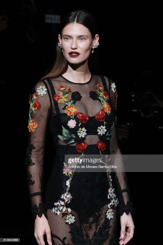 Bianca Balti attends the Dolce & Gabbana show during Milan Fashion Week Fall/Winter 2016/17 on February 28, 2016 in Milan, Italy.