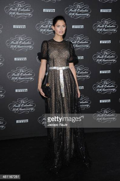 Bianca Balti attends The Pirelli Calendar 50th Anniversary