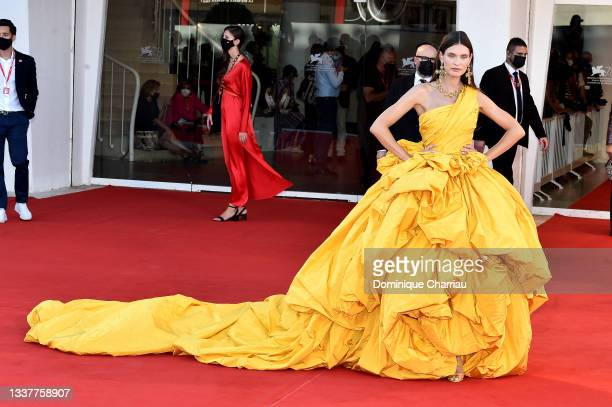 """Bianca Balti attends the red carpet of the movie """"Madres Paralelas"""" during the 78th Venice International Film Festival on September 01, 2021 in..."""