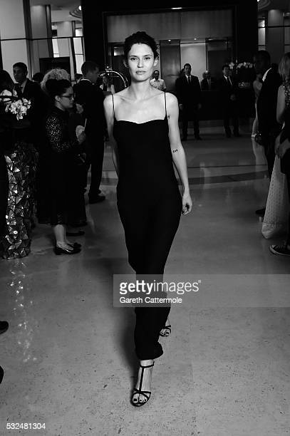 Bianca Balti departs the Martinez Hotel during the 69th annual Cannes Film Festival on May 17, 2016 in Cannes, France.