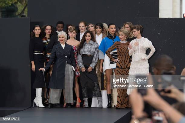 Bianca Balti Helen Mirren Thylane Blondeau Cheryl Cole Neelam Gill Irina Shayk Jane Fonda Doutzen Kroes and Barbara Palvin are seen on the runway...