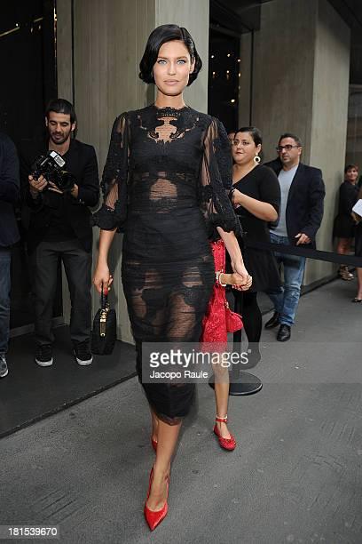 Bianca Balti is seen arriving at Dolce & Gabbana during Milan Fashion Week Womenswear Spring/Summer 2014 on September 22, 2013 in Milan, Italy.