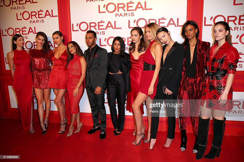 L'Oreal Red Obsession Party - Photocall - Paris Fashion Week Womenswear Fall/Winter 2016/2017 : News Photo