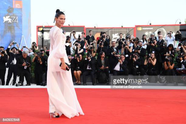Bianca Balti walks the red carpet ahead of the 'Downsizing' screening and Opening Ceremony during the 74th Venice Film Festival at Sala Grande on...