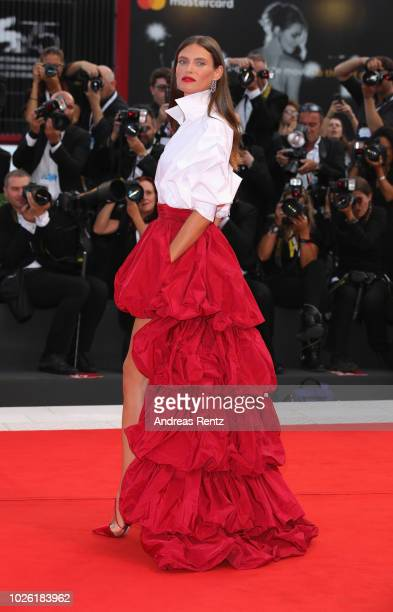 Bianca Balti walks the red carpet ahead of the 'The Sisters Brothers' screening during the 75th Venice Film Festival at Sala Grande on September 2...