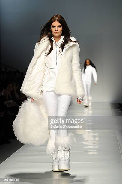 Bianca Balti walks the runway at the Blumarine Autumn/Winter 2012/2013 fashion show as part of Milan Womenswear Fashion Week on February 24 2012 in...