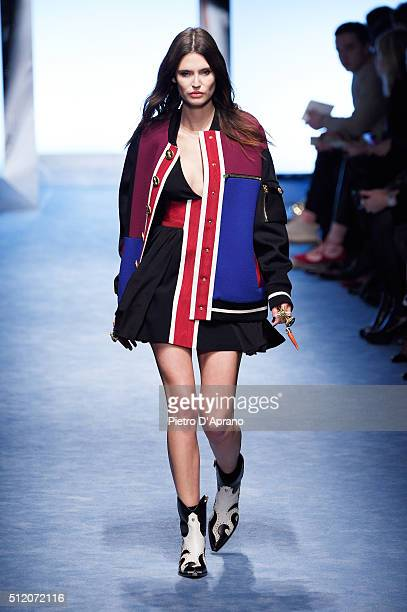 Bianca Balti walks the runway at the Fausto Puglisi show during Milan Fashion Week Fall/Winter 2016/17 on February 24, 2016 in Milan, Italy.
