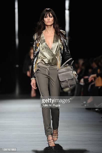 Bianca Balti walks the runway at the Iceberg Autumn/Winter 2012/2013 fashion show as part of Milan Womenswear Fashion Week on February 24, 2012 in...