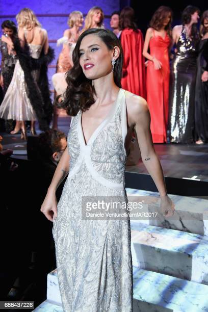 Bianca Balti wearing Armani walks the runway at the amfAR Gala Cannes 2017 at Hotel du CapEdenRoc on May 25 2017 in Cap d'Antibes France