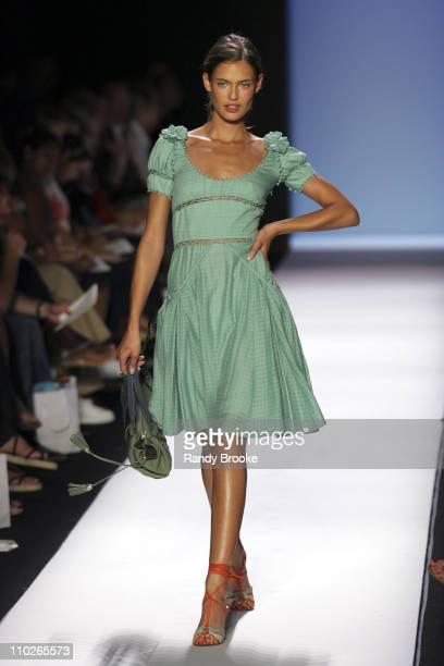 Bianca Balti wearing Zac Posen Spring 2006 during Olympus Fashion Week Spring 2006 - Zac Posen - Runway at Bryant Park in New York City, New York,...
