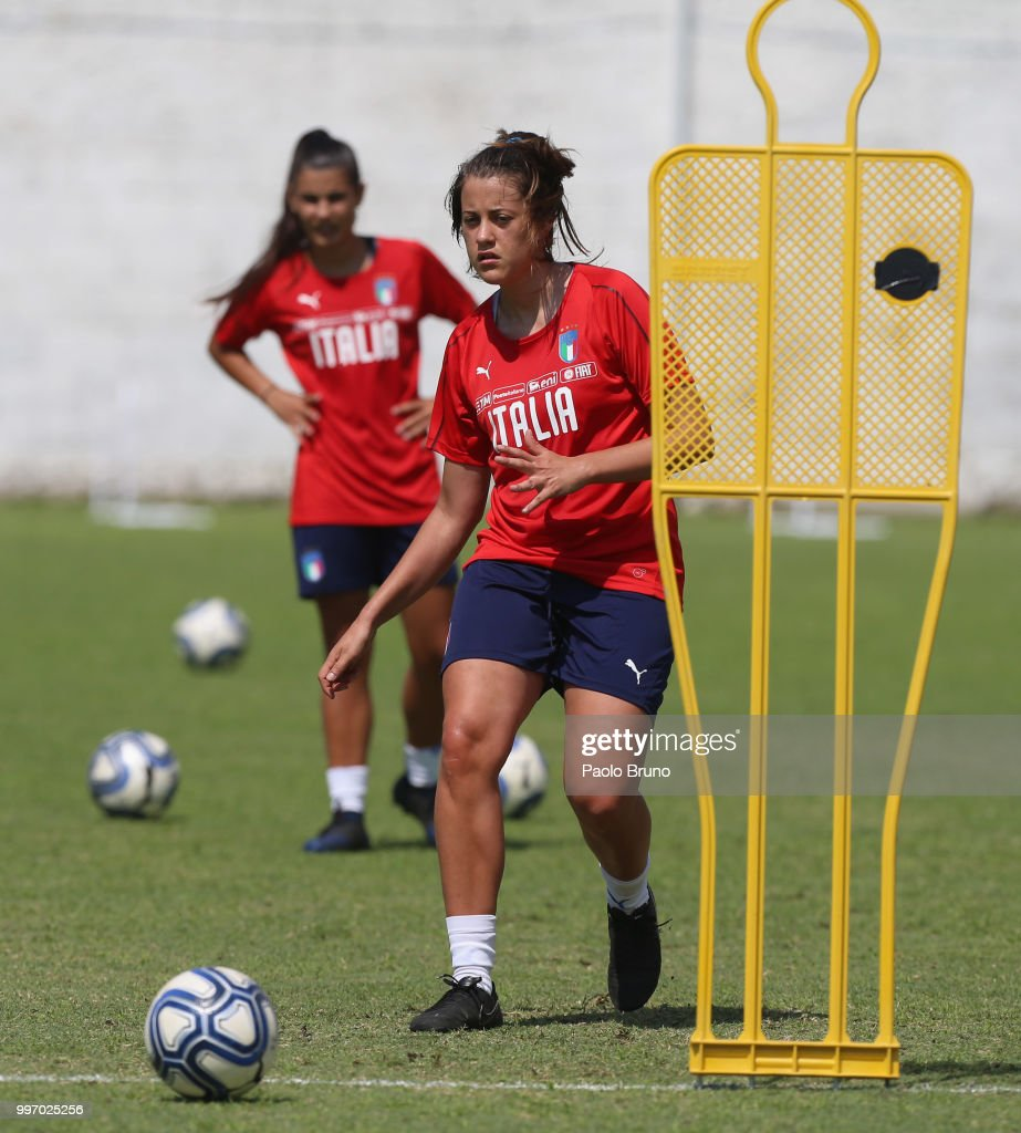 Bianca Bardin of Italy in action during the Italy women U19 photocall and training session on July 12, 2018 in Formia, Italy.