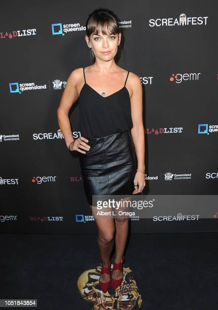 Bianca Bradey arrives for the Screamfest LA Opening Night Screening Of 'The Amityville Murders' at TCL Chinese 6 Theatres on October 9 2018 in...