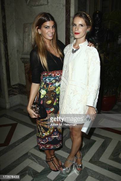 Bianca Brandolini and Eugenie Niarchos attend the Founder And CEO Alessandro Savelli And Contemporary Style Icon Julia Restoin Roitfeld Launch...