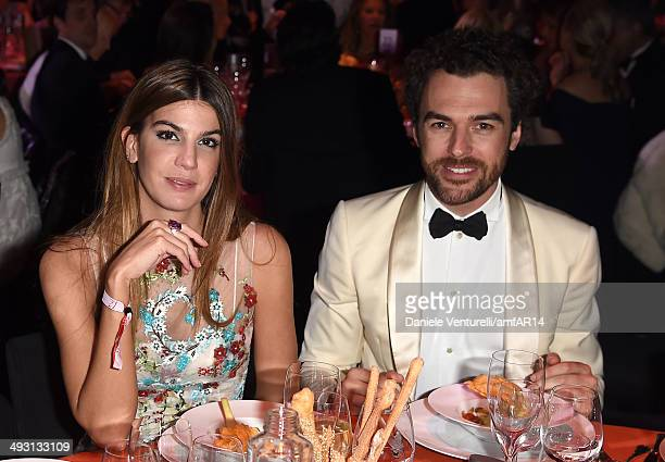 Bianca Brandolini and Gian Luca Passi de Preposulo attend amfAR's 21st Cinema Against AIDS Gala Presented By WORLDVIEW BOLD FILMS And BVLGARI at...