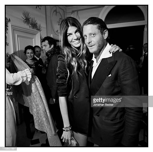 Bianca Brandolini and Lapo Elkann are photographed at Vanity Fair Cannes Party at the Eden Roc Cap d'Antibes for Vanity Fair Magazine on May 15 2010...