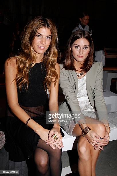 Bianca Brandolini and Olivia Palermo attend for the Giambattista Valli Ready to Wear Spring/Summer 2011 show during Paris Fashion Week at Espace...