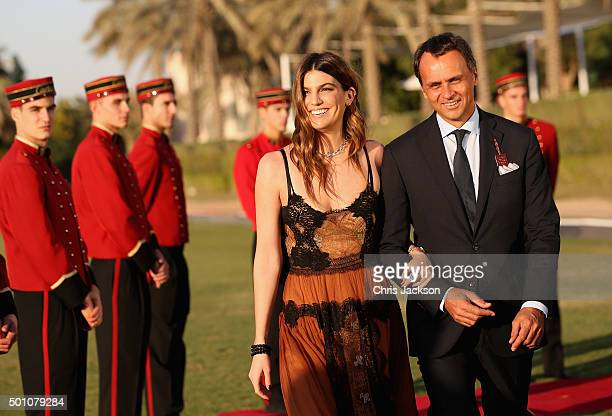 Bianca Brandolini and Regional Managing Director of Cartier Middle East India and Africa Laurent Gabori attend the final day of Cartier International...