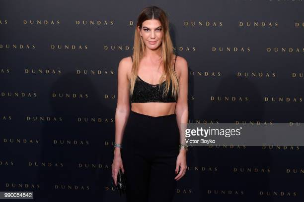Bianca Brandolini attends the Dundas Haute Couture Fall Winter 2018/2019 show as part of Paris Fashion Week on July 2 2018 in Paris France