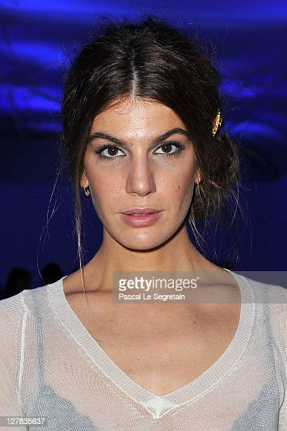 Bianca Brandolini attends the Dw by Kanye West Ready to Wear Spring / Summer 2012 show during Paris Fashion Week at Lycee Henri IV on October 1 2011...