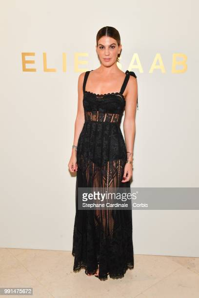 Bianca Brandolini attends the Elie Saab Haute Couture Fall/Winter 20182019 show as part of Haute Couture Paris Fashion Week on July 4 2018 in Paris...
