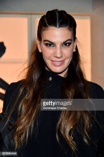 Bianca Brandolini attends the HM show as part of the Paris Fashion Week Womenswear Fall/Winter 2018/2019 on February 28 2018 in Paris France