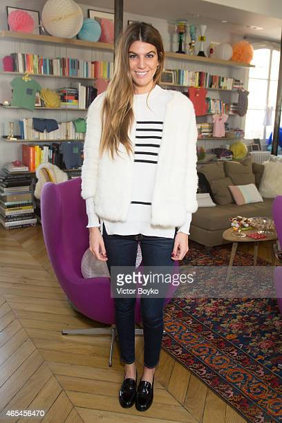 Bianca Brandolini attends the launch event of Margherita and Yooxcom on March 6 2015 in Paris France
