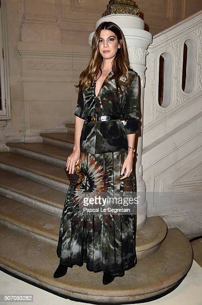 Bianca Brandolini d' Adda attends the Valentino Spring Summer 2016 show as part of Paris Fashion Week on January 27 2016 in Paris France