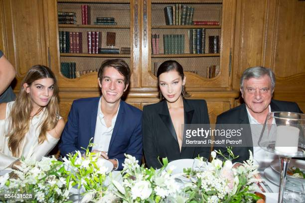Bianca Brandolini d'Adda Alexandre Arnault Bella Hadid and Sidney Toledano attend dinner hosted by Rimowa Alexandre Arnault to celebrate the 80th...