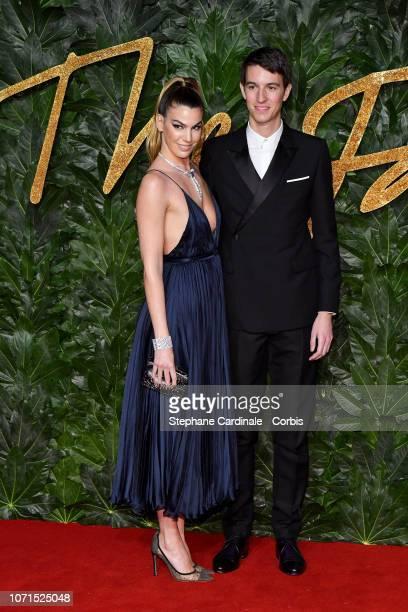 Bianca Brandolini D'Adda and Alexandre Arnault details attends the Fashion Awards 2018 in partnership with Swarovski at Royal Albert Hall on December...