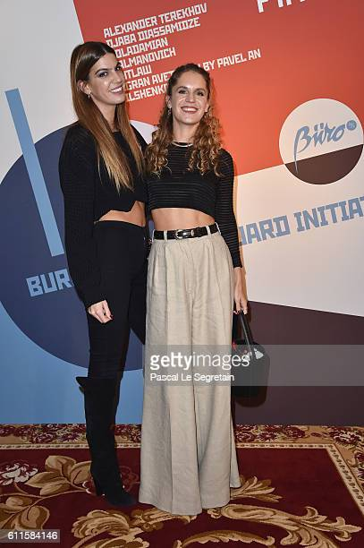 Bianca Brandolini d'Adda and Eugenie Niarchos attend Buro 24/7 Fashion Forward Initiative as part of Paris Fashion Week Womenswear Spring/Summer 2016...