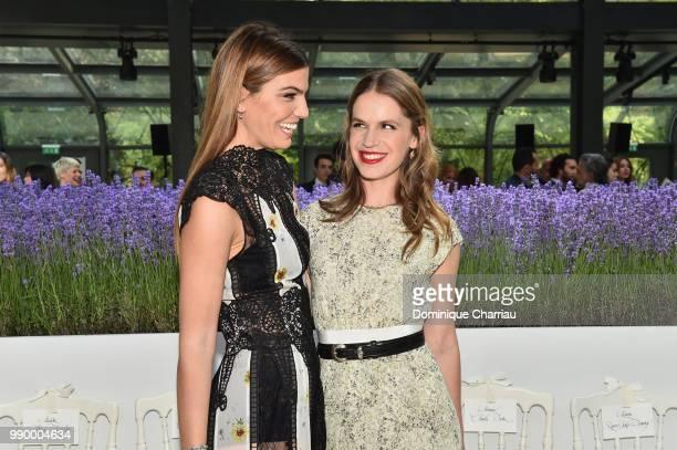 Bianca Brandolini d'Adda and Eugenie Niarchos attend the Giambattista Valli Couture Haute Couture Fall/Winter 20182019 show as part of Haute Couture...