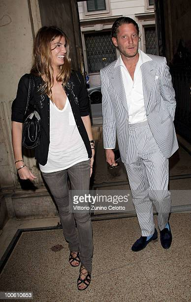 Bianca Brandolini D'Adda and Lapo Elkann attend the Jake And Dinos Chapman Opening At The ProjectB Gallery on May 25 2010 in Milan Italy