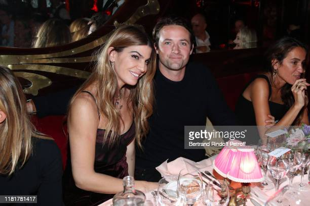 Bianca Brandolini d'Adda and Louis-Marie de Castelbajac attend the Dinner in tribute to Artist Ali Banisadr at Maxim's Restaurant, as part of the...