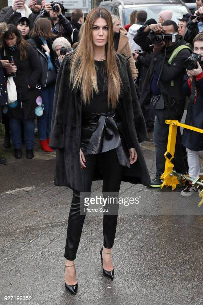 Bianca Brandolini d'Adda arrives at the Valentino show as part of the Paris Fashion Week Womenswear Fall/Winter 2018/2019 on March 4 2018 in Paris...