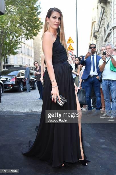 Bianca Brandolini D'Adda arrives at the 'Vogue Foundation Dinner 2018' at Palais Galleria on July 3 2018 in Paris France