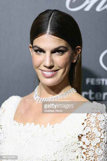 Bianca Brandolini d'Adda arrives to the Chopard Backstage Dinner Afterparty at the CannesMandelieu Aerodrome during the 67th Annual Cannes Film...