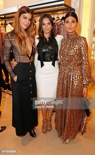 Bianca Brandolini d'Adda Astrid Munoz and Giovanna Battaglia Engelbert attend the Giambattista Valli London store opening on Sloane Street on June 14...
