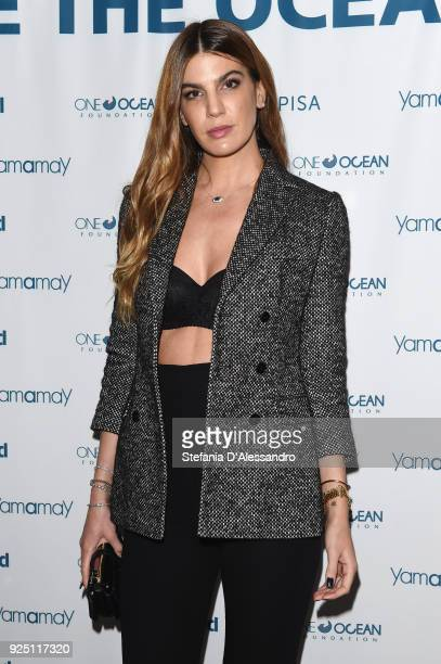 Bianca Brandolini D'Adda attends One Ocean Foundation event on February 27 2018 in Milan Italy