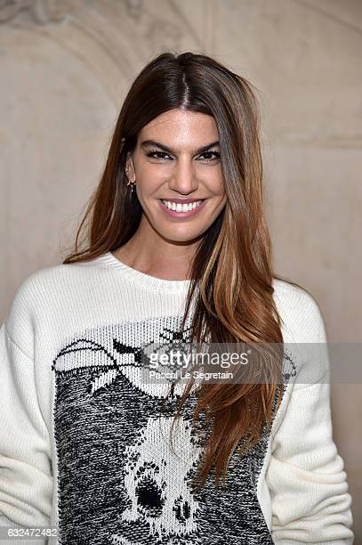 Bianca Brandolini d'Adda attends the Christian Dior Haute Couture Spring Summer 2017 show as part of Paris Fashion Week on January 23 2017 in Paris...