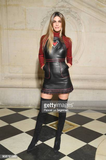 Bianca Brandolini d'Adda attends the Christian Dior Haute Couture Spring Summer 2018 show as part of Paris Fashion Week on January 22 2018 in Paris...